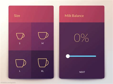 app design quote coffee maker app by gal shir dribbble