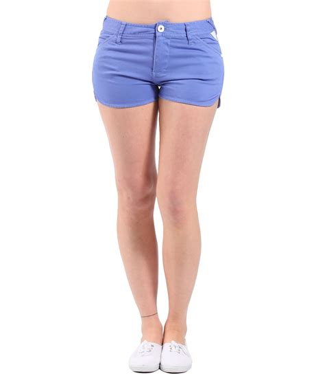 bench shorts womens bench womens good legs denim shorts in blue lyst