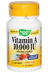 Vitamin A 200 000 Iu vitamin a 100 10 000iu softgels