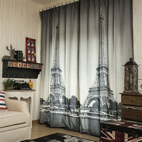 eiffel tower bedroom curtains 3d linen cheap curtain fabrics paris eiffel tower blinds