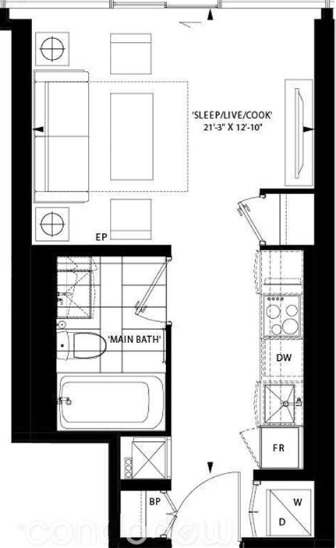 325 square feet art shoppe condos floor plan t sb freed