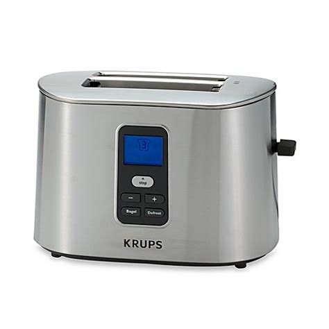 4 Slice Bagel Toaster Krups 174 2 Slice Digital Toaster Bed Bath Amp Beyond