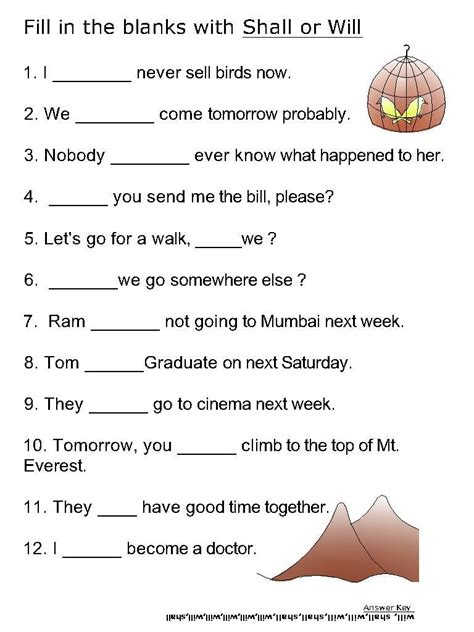 Helping Verb Worksheets by Helping Verb Worksheets For Will Shall