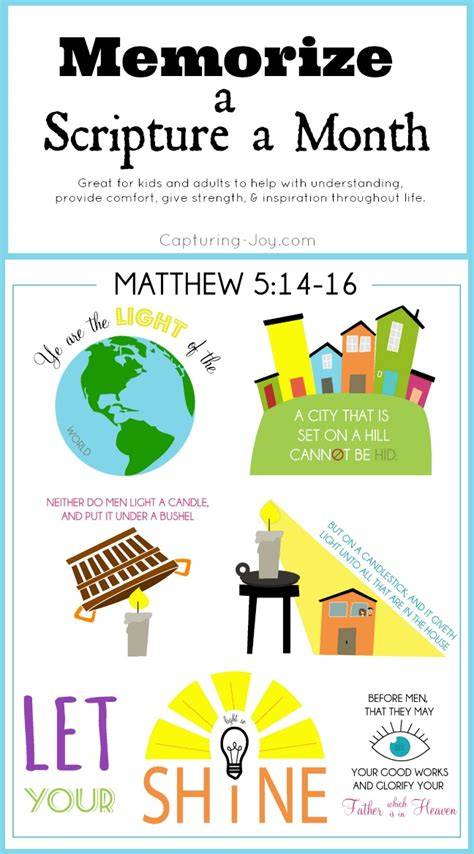 Do Something For A Child Each Month by Memorize A Scripture A Month January Capturing With
