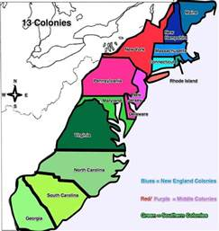 map of colonial 13 colonies map fotolip rich image and wallpaper
