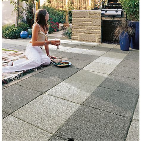 Travis Perkins Patio Slabs by Marshalls Argent Coarse Grey 400 X 400 X 38mm Paving