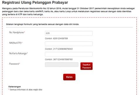 format registrasi ulang review registrasi ulang nomor sim card ponsel hari