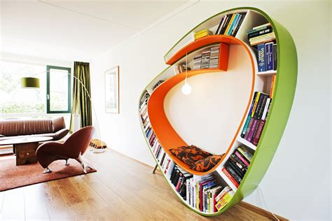 decoration bookworm bookshelf design images fubiz media