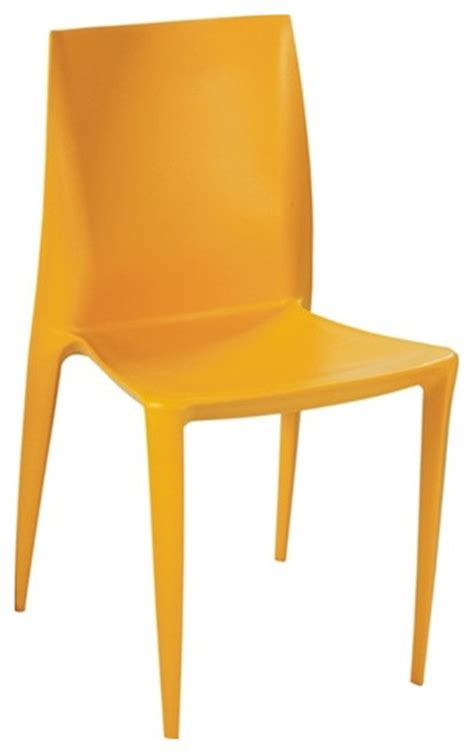 angles plastic dining chair yellow contemporary dining
