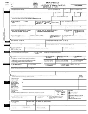 State Of Michigan Birth Records Michigan Certificate Form Fill Printable Fillable Blank Pdffiller