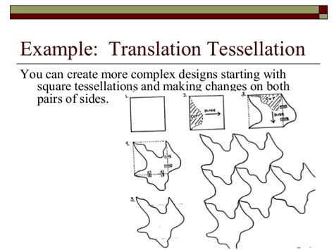 how to make a tessellation template with an index card tessellation project