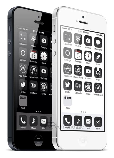 black jailbreak themes winterboard for ios 7 released fully supports iphone 5s
