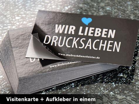 Visitenkarten Und Aufkleber Drucken by Visitenkarten Mit Effektkarton Drucken Schnell G 252 Nstig