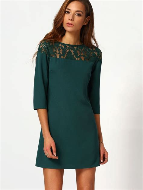 Dress Misco green neck with lace dress sleeve fabrics