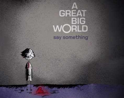 Cd A Great Big World Is There Anybody Out There 1 a great big world say something album cover www imgkid the image kid has it