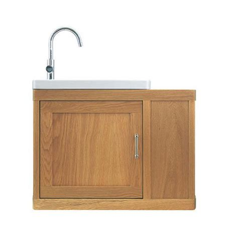 Thurlestone Traditional Cloak Offset Bathroom Vanity Unit Solid Wood Vanity Units For Bathrooms