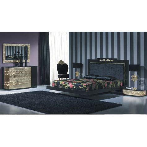 black and gold bed set luxus black and gold leaf bedroom set