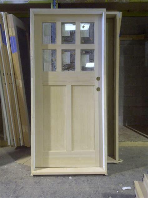 Solid 6 Lite Kerrisdale Shaker Modern Front Doors Shaker Style Exterior Doors