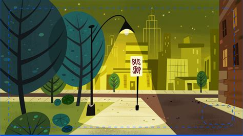 layout and background artist cartoon concept design powerpuff girls painted backgrounds