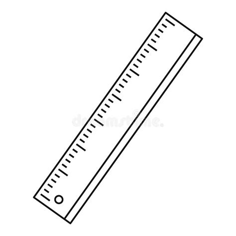 free printable vector ruler ruler icon outline style stock vector illustration of
