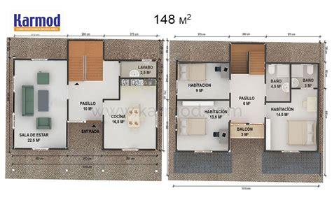 Viviendas Modulares Prefabricadas #9: Casa-pré-fabricada-de-148-m2-k1v2.jpg