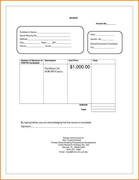invoice template html blank invoice pdf hardhost info