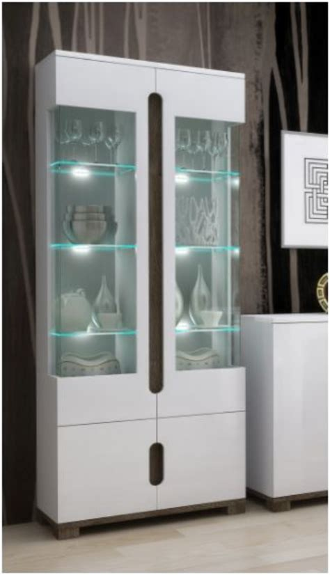 White Display Cabinet With Glass Doors Wow Display Cabinets With Glass Doors By Furniturefactor Co Uk