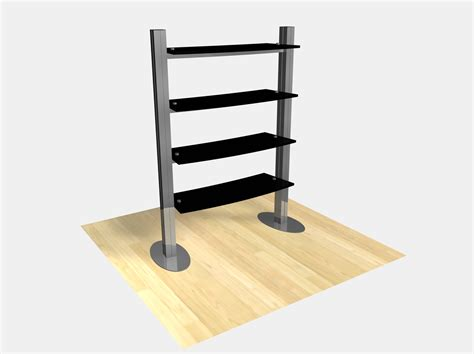 exhibit design search re 1253 freestanding shelf