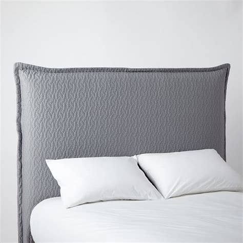 queen headboard slipcover matelasse slipcover headboard feather gray west elm