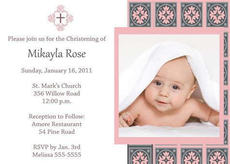layout invitation for christening invitation for christening layout invitation card for
