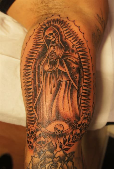 virgin mary tattoos for men skull arm design for religious