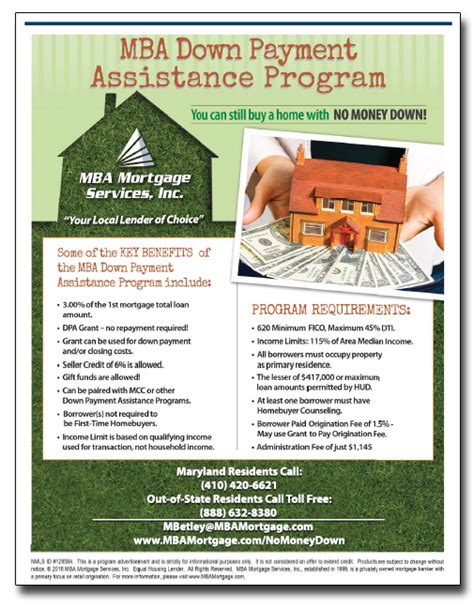 The 100 Mba Contact by Mba Mortgage Payment Assistance Grant 410 420 6621