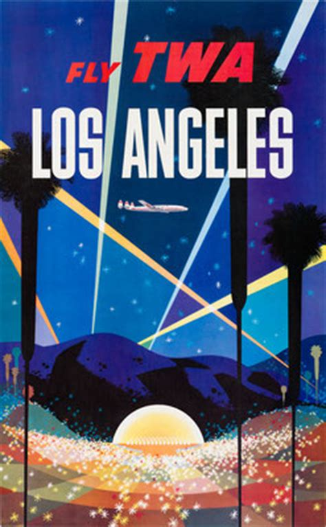 poster design los angeles famous poster artists original vintage airline posters