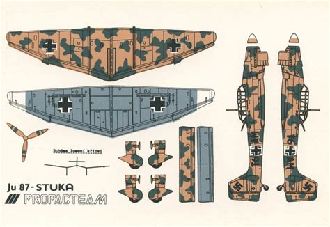 Ww2 Papercraft - ju 87 stuka airplane papercraft