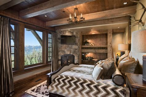Colorado Blinds Rustic Bedrooms Design Ideas Canadian Log Homes