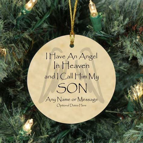 angel son christmas memorial ornaments sympathy gifts