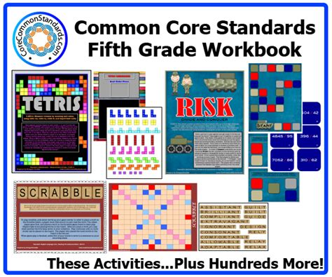 Common Standards Math 5th Grade Worksheets by Fifth Grade Common Workbook