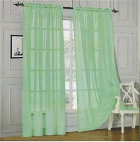 jade green curtains jade green 6pcs soft sheer voile window panel solid brand