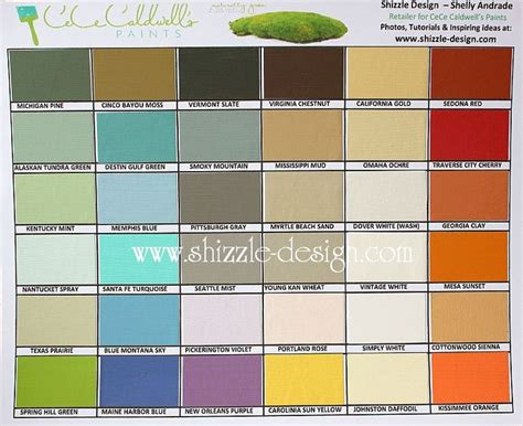 cece caldwell s painted color chart by shizzle design in grand rapids michigan furniture