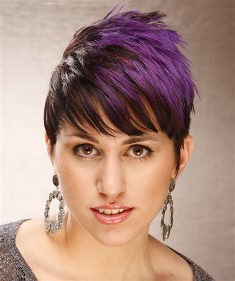short hair styles with two tones of color two tone hair color splash