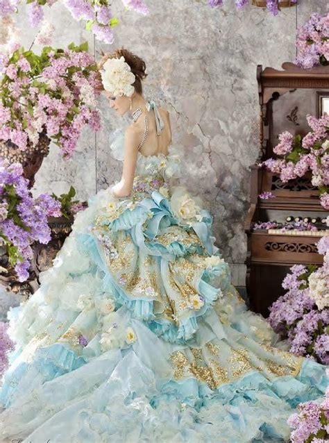 dayeong restofus light blue wedding dress