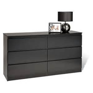 Black Dresser Drawers Avanti 6 Drawer Dresser Black At Hayneedle