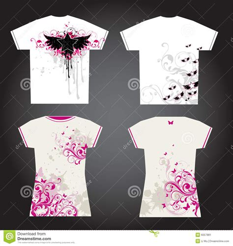 Drawing T Shirt Designs by Tshirt Design Stock Image Image 6057881