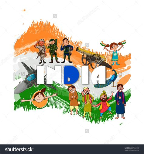 doodle for india unity in diversity indian culture clipart 76