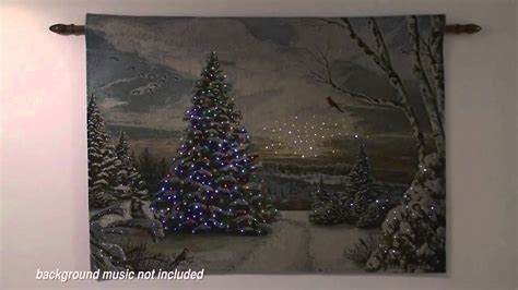 christmas morning ii lighted holiday wall tapestry youtube