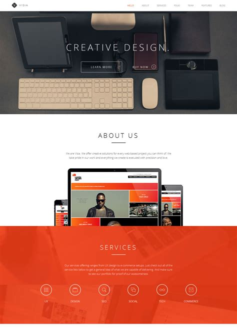 drupal theme visia 15 premium and creative website templates