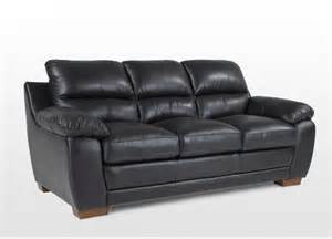 3 Seater Black Leather Sofa 3 Seater Black Leather Sofa