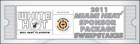 Sweepstakes Sponsor - heat launches 2011 miami heat sponsor package sweepstakes the official site of the