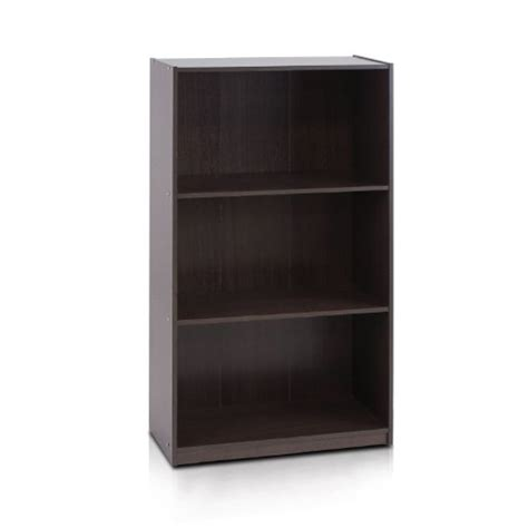 furinno 3 tier bookcase furinno 99736dbr basic 3 tier bookcase storage shelves