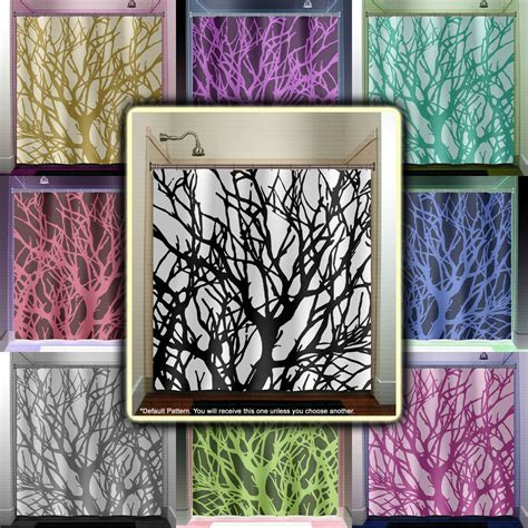 Branches Tree Branch Shower Curtain Bathroom Decor Fabric Kids